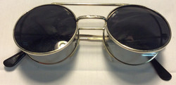 Silver frames, black ends