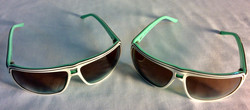 Pastel green and white sunglasses