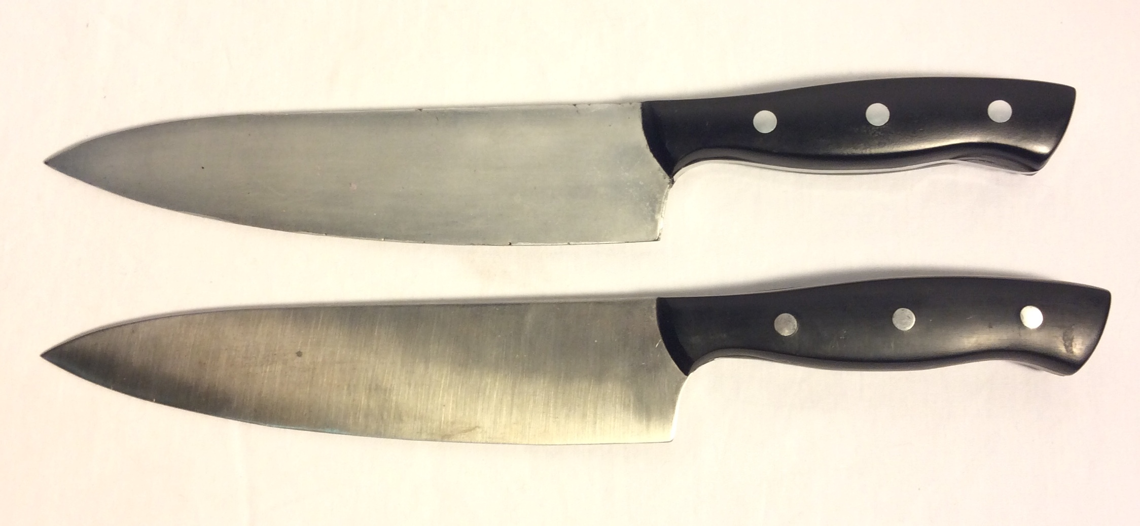 Henckel black & silver chef's knife
