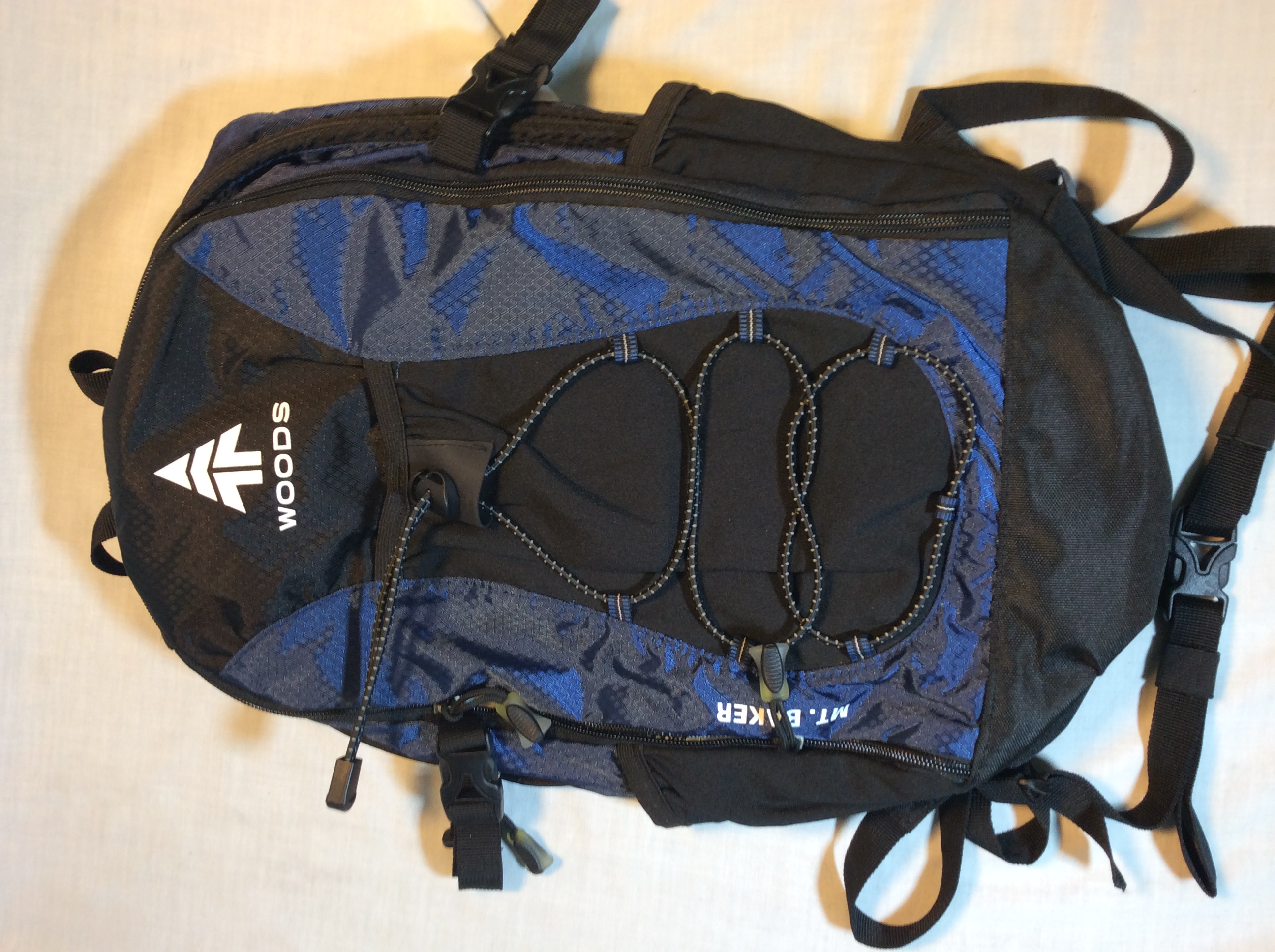Small blue woods backpack