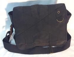 Black Canvas Shoulder bag with brown