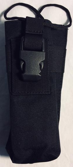 Black nylon walkie pouches