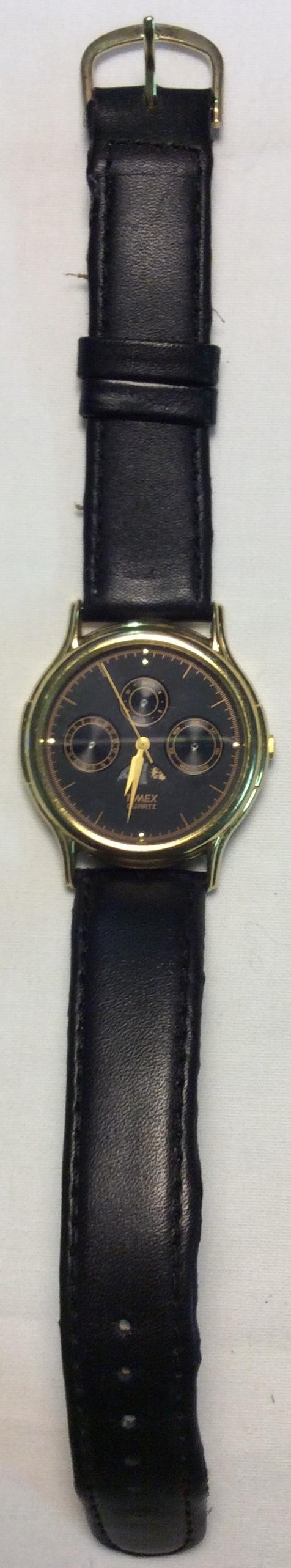 Timex Watch - round black face