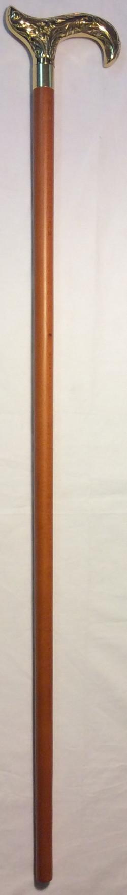 Caramel wooden cane, heavy ornate