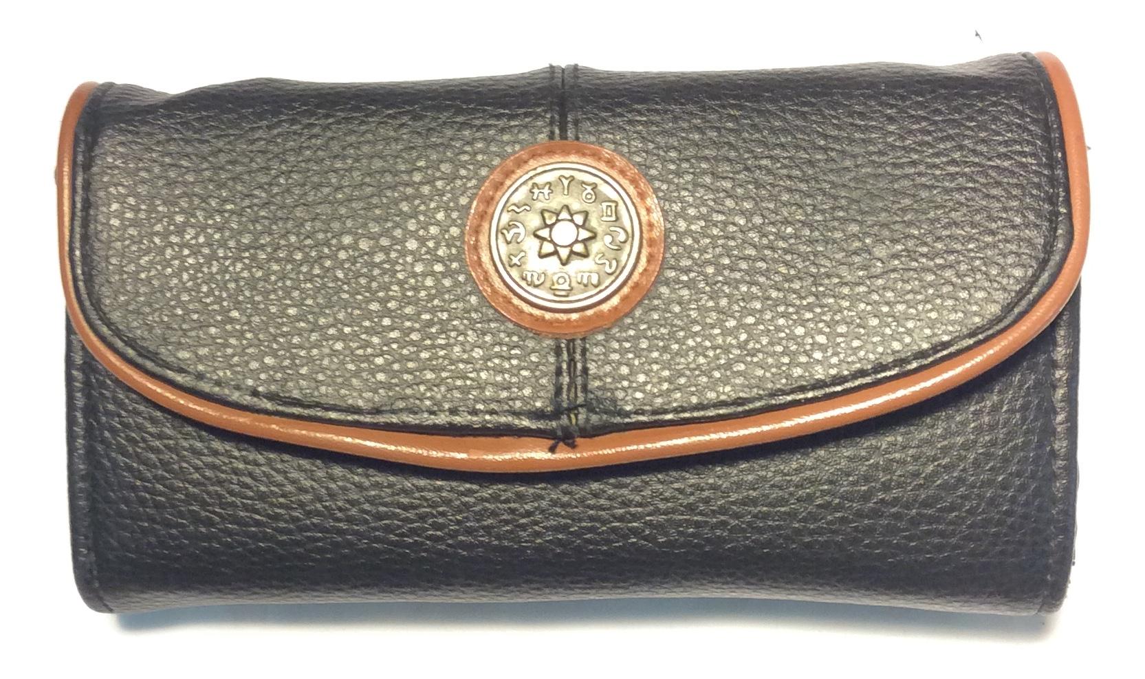 Black leather shoulder purse/phone