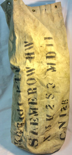 Aged military mail/laundry duffel bag