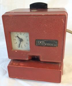 ITR International red vintage punch clock