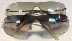 Thin silver metal frames, clear/grey