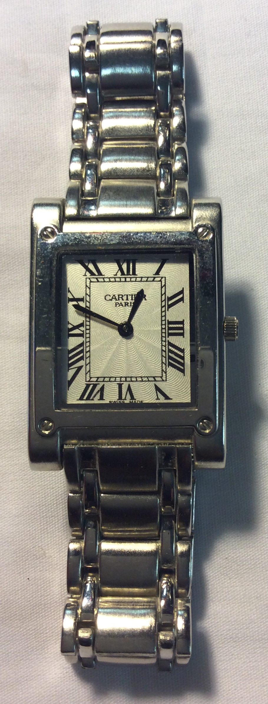 Cartier watch - square white face