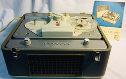 Phillips Vintage Philips Continental 400 stereo tape recorder in working condition with manual