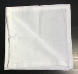 """Bright white cloth napkins 18""""x18"""" - x4"""