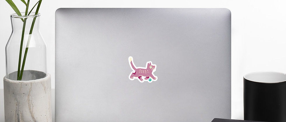 Happy Cat Bubble-free stickers