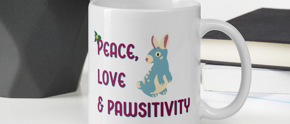 Peace, Love & Pawsitivity Mug - Bun Bun