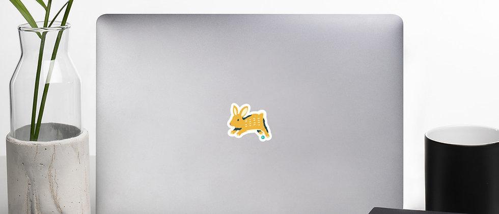 Happy Bunny Bubble-free stickers
