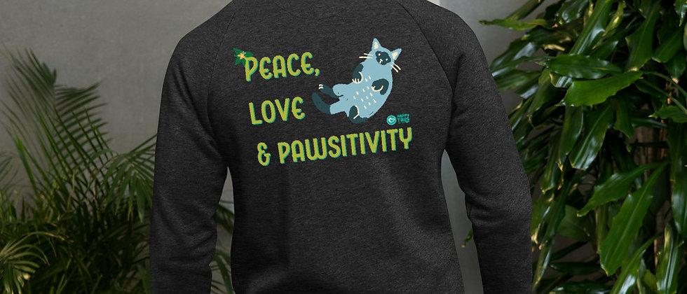Peace, Love & Pawsitivity Bomber Jacket - Kitty Cat