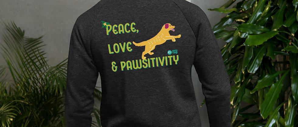 Peace, Love & Pawsitivity Bomber Jacket - Doggo