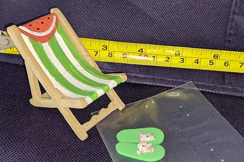 Beach Chair & Flip Flops