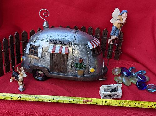 Vintage Airstream Fairy Camper Set