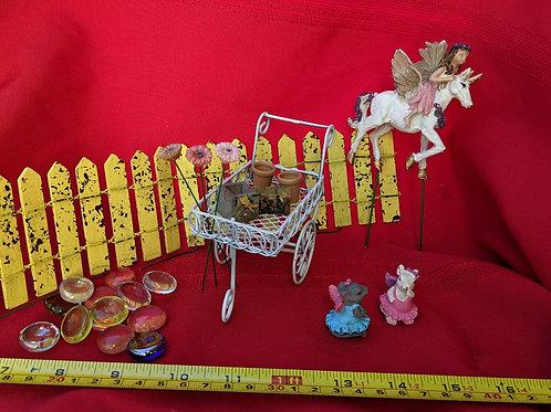 Garden Cart Fairy Set