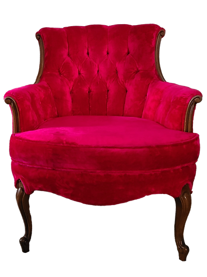 Red Velvet Armchair Hollywood Regency Furniture City by Grand Rapids