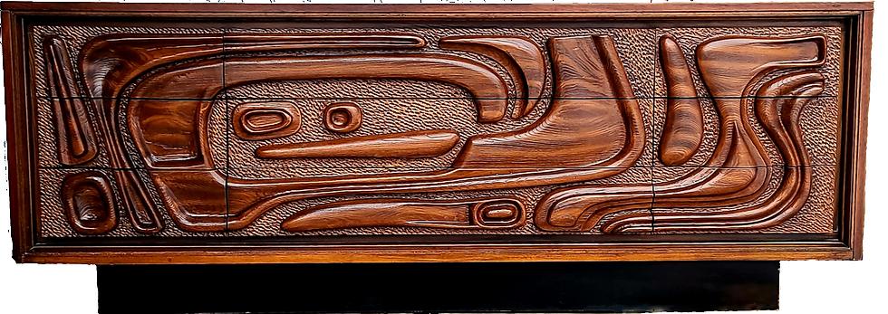 MCM Pulaski / Witco Tiki Oceanic Walnut Dresser