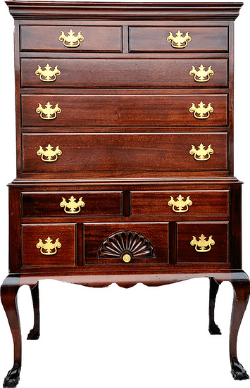 Maddox Queen Anne Mahogany High Chest Of Drawers
