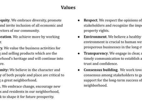 Help determine ESDA's organizational values