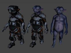 3D Character Design at Kingdom App Development Alien Variants