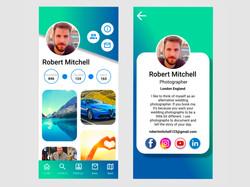UI/UX design by kingdom app development social media app profile page