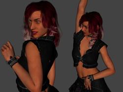 3D Character Design at Kingdom App Development Dancing Girl
