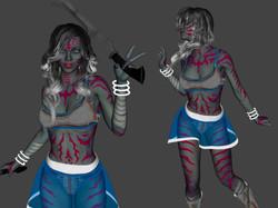 3D Character Design at Kingdom App Development Striped Alien