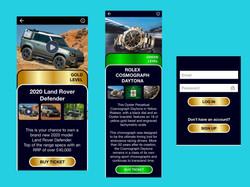 UI/UX design by kingdom app development raffle app