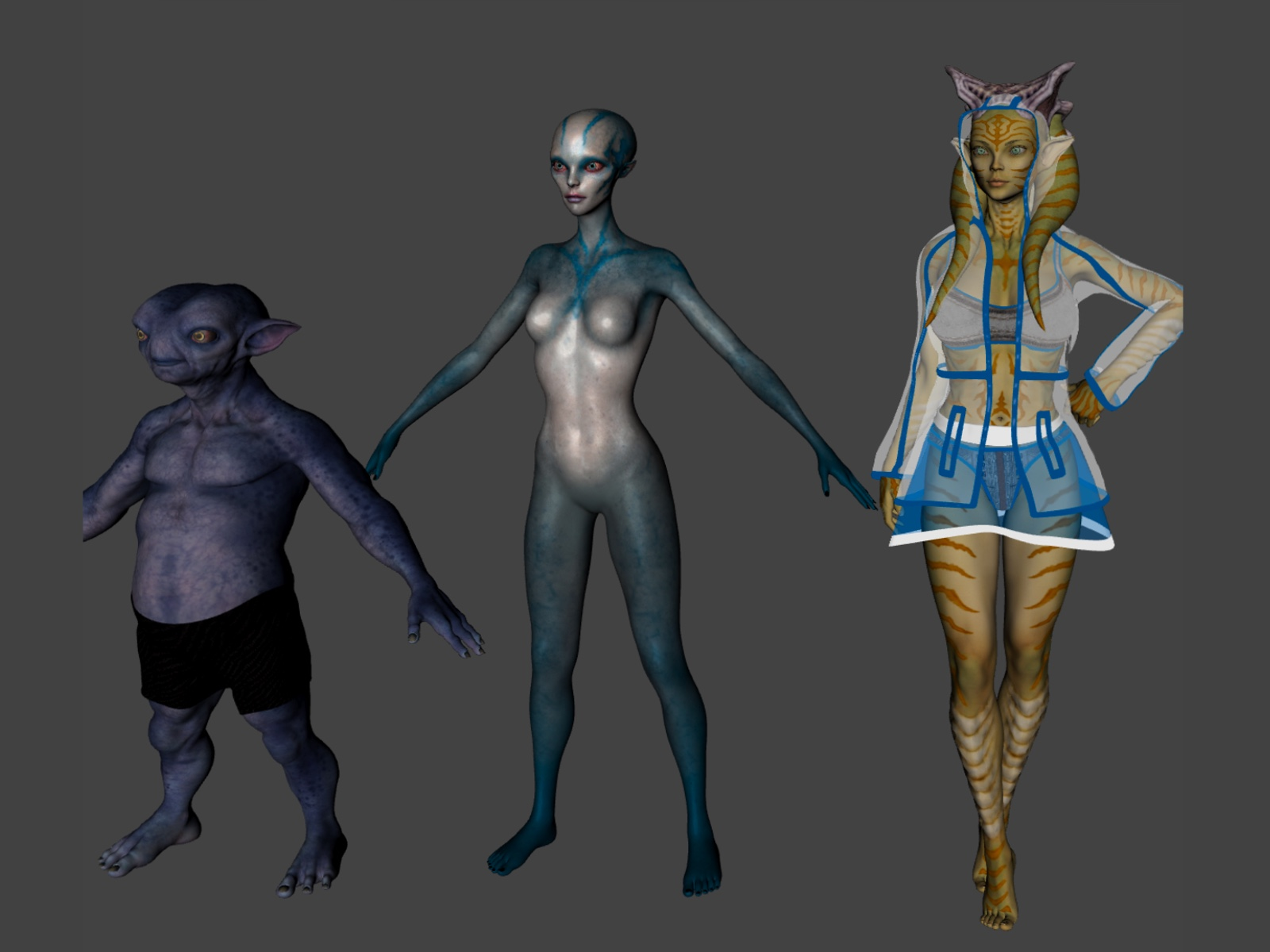 3D Character Design at Kingdom App Development Mixed Aliens