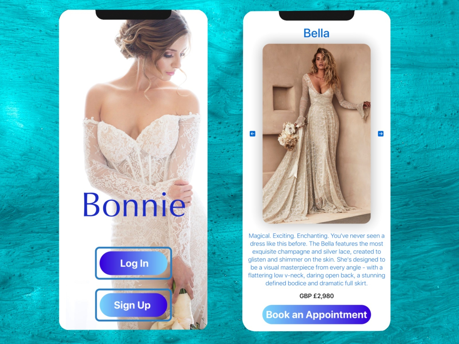 UI/UX design by kingdom app development wedding app
