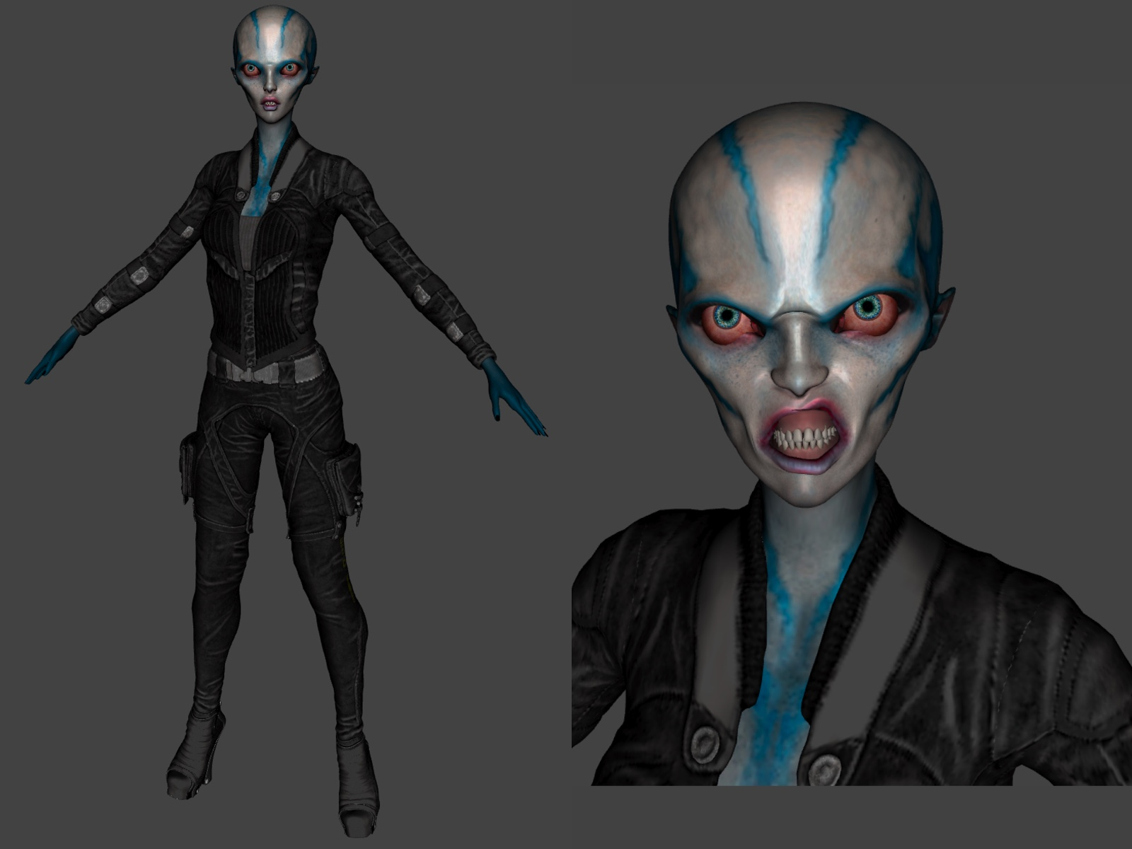 3D Character Design at Kingdom App Development Alien Warrior
