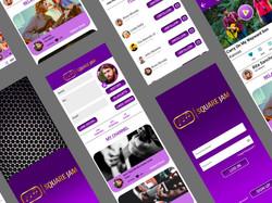 UI/UX design by kingdom app development social media app