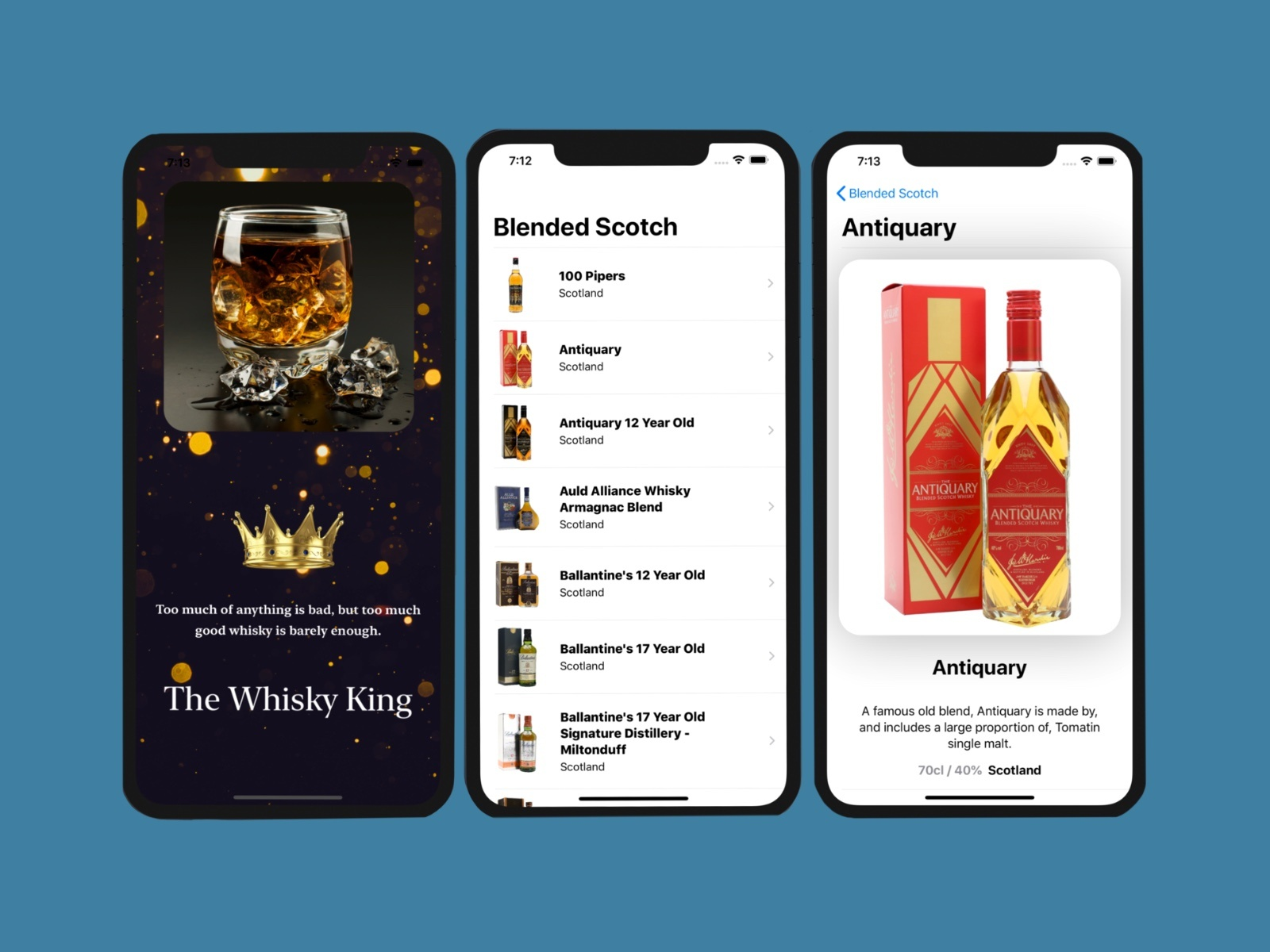 UI/UX design by kingdom app development whiskey app