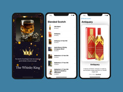 UI/UX design by kingdom app development whiskey app