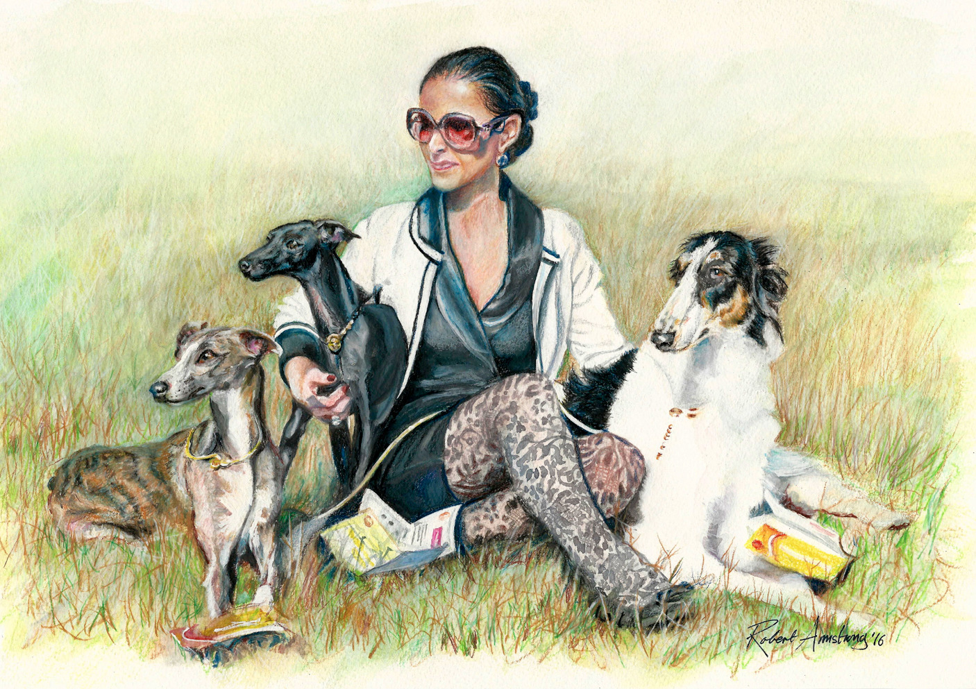 Andreia with her Dogs
