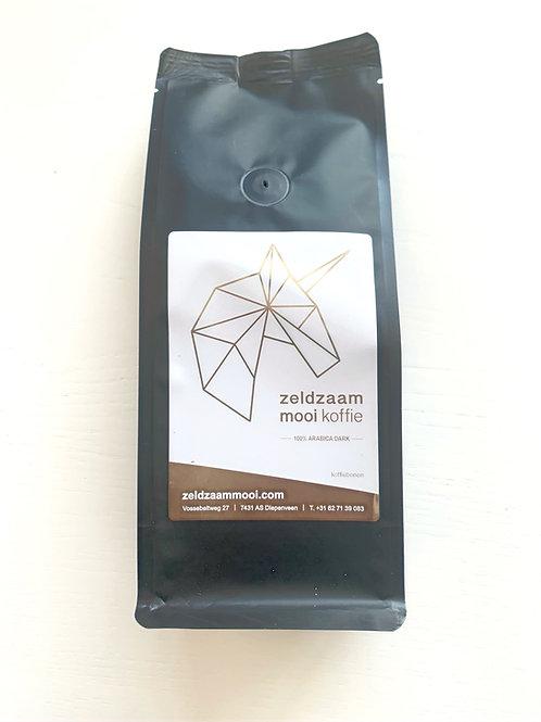 Zeldzaam Mooi Koffie bonen zak 250 gram