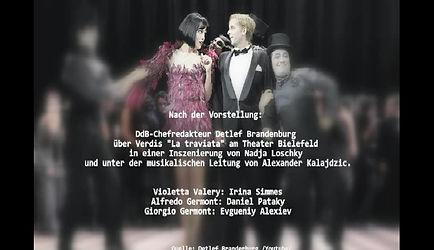 """DdB-Chefredakteur Detlef Brandenburg über Verdis """"La traviata"""" am Theater Bielefeld in einer Inszenierung von Nadja Loschky und unter der musikalischen Leitung von Alexander Kalajdzic."""