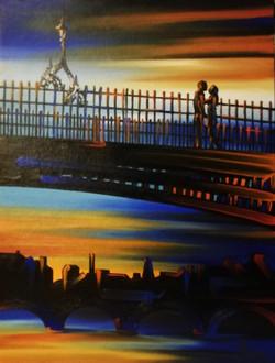 'The Hal'penny Bridge, Dublin'