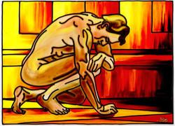 'Kneeling Nude'