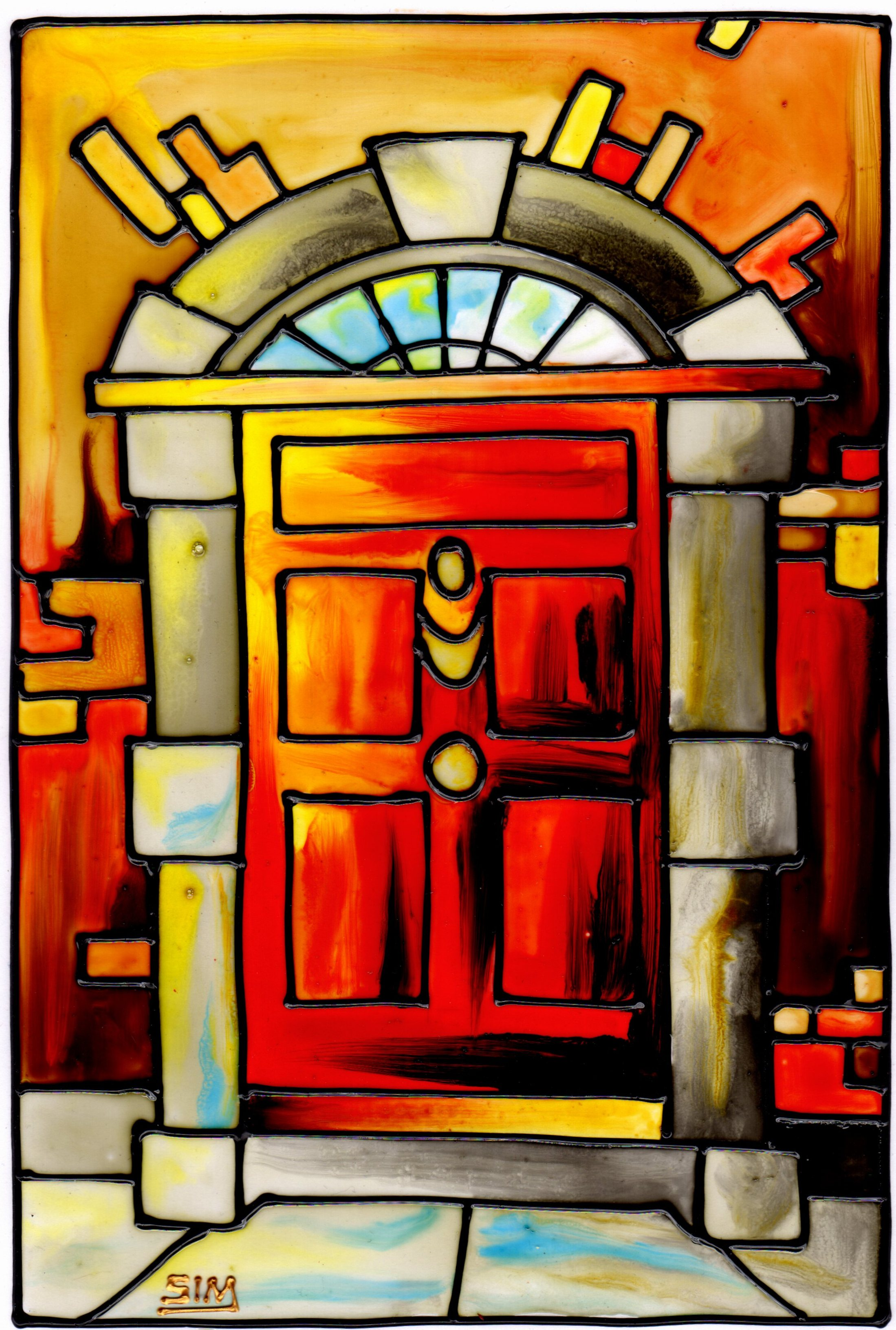 'Red Georgian Door'
