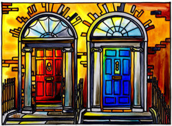 'Red & Blue Georgian Door'