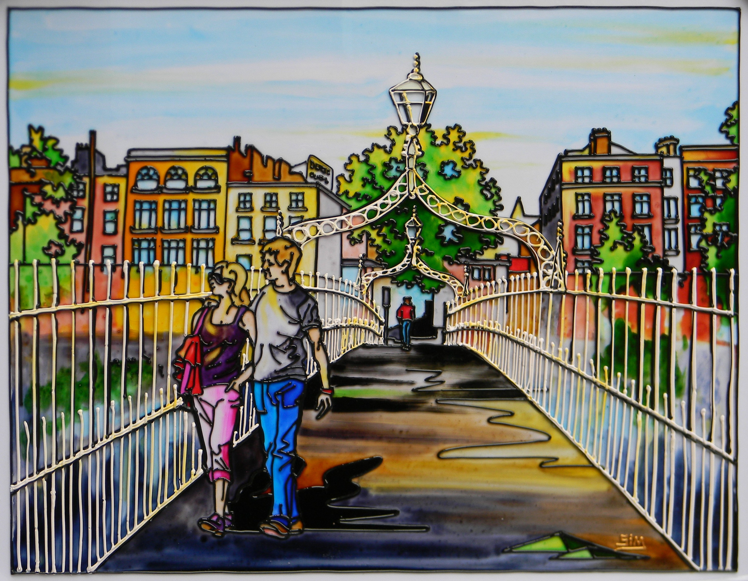 'The Hal'penny Bridge A, Dublin'