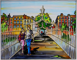 'The Hal'penny Bridge A, Dublin'