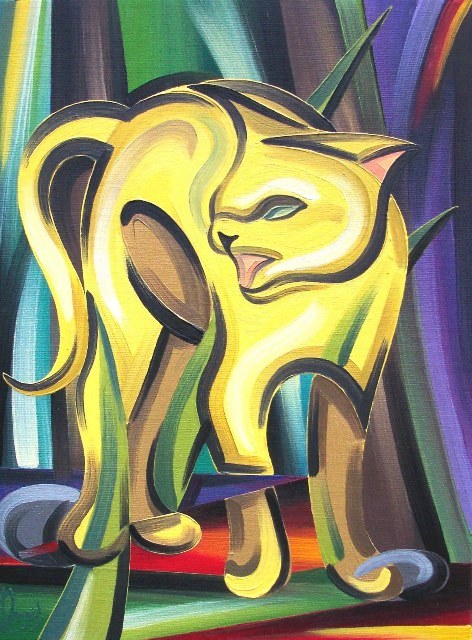 Yellow Cat (Oil)