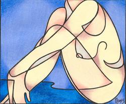 'Contemplative Nude 3'