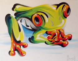 Frog On White Y